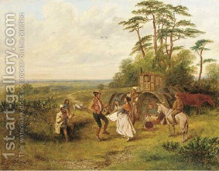 The gypsy dance by Alfred H. Green - Reproduction Oil Painting