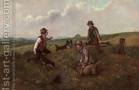 The rabbit hunt by Alfred H. Green - Reproduction Oil Painting