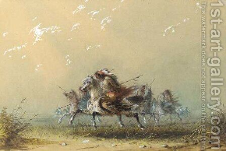Indians on the War Path by Alfred Jacob Miller - Reproduction Oil Painting