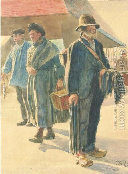 Market day by Alfred Le Petit - Reproduction Oil Painting