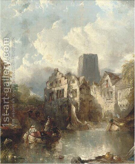 Rotterdam by Alfred Montague - Reproduction Oil Painting