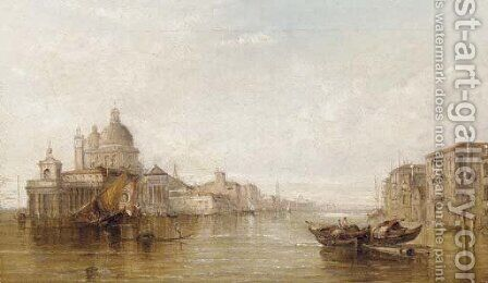 Grand Canal with a View of Santa Maria della Salute by Alfred Pollentine - Reproduction Oil Painting