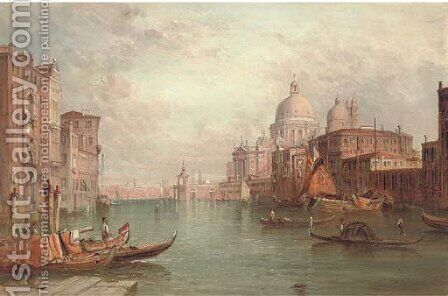 Santa Maria della Salute on the Grand Canal, Venice by Alfred Pollentine - Reproduction Oil Painting