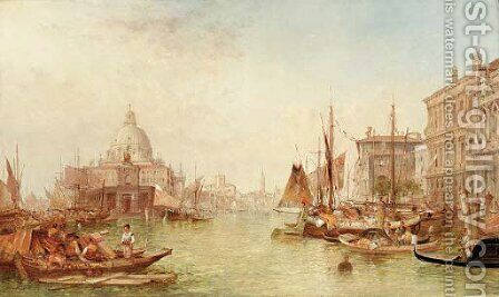 The Dogana, Venice by Alfred Pollentine - Reproduction Oil Painting