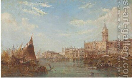 The Doge's Palace, Grand Canal, Venice by Alfred Pollentine - Reproduction Oil Painting