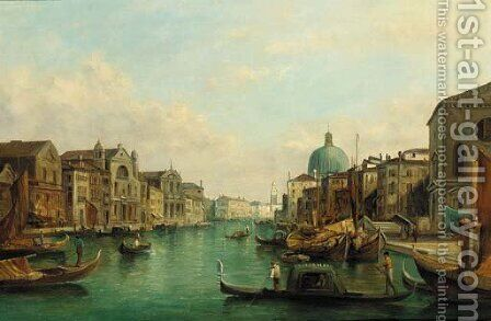 The Grand Canal by Alfred Pollentine - Reproduction Oil Painting