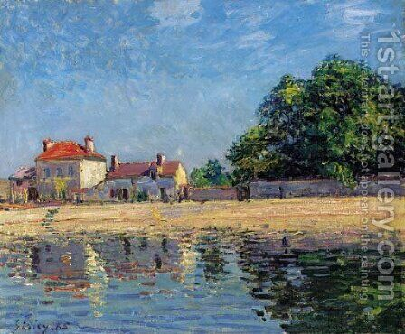 Bords du Loing, Saint-Mammes by Alfred Sisley - Reproduction Oil Painting