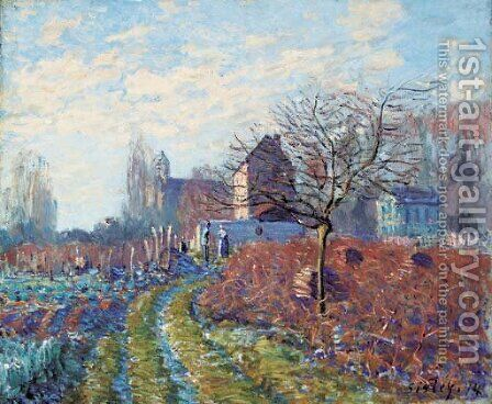 Gelee blanche - Ete de la Saint-Martin by Alfred Sisley - Reproduction Oil Painting