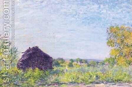 La meule de paille by Alfred Sisley - Reproduction Oil Painting