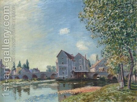 Le pont de Moret, effet du matin by Alfred Sisley - Reproduction Oil Painting