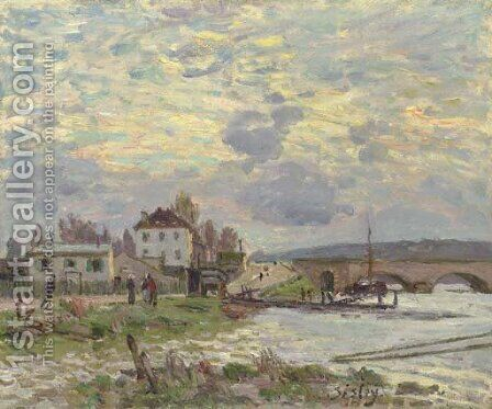 Le pont de Sevres by Alfred Sisley - Reproduction Oil Painting