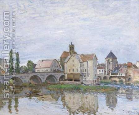 Moret-sur-Loing 2 by Alfred Sisley - Reproduction Oil Painting