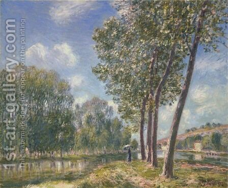 Soleil de printemps - Le Loing by Alfred Sisley - Reproduction Oil Painting