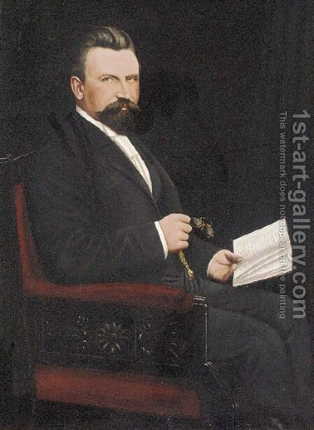 The founder, the late Mr. Daniel Smith by Alfred Smith - Reproduction Oil Painting