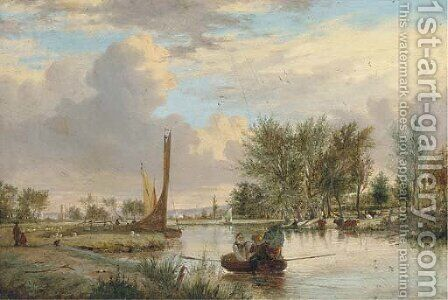 On the Yare by Alfred Stannard - Reproduction Oil Painting