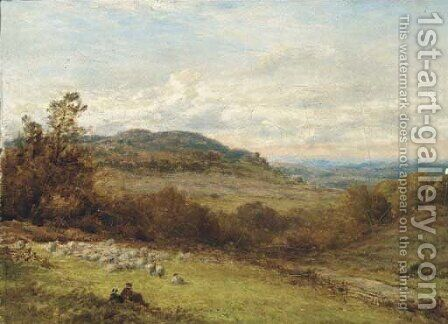 On the Surrey hills by Alfred Walter Williams - Reproduction Oil Painting