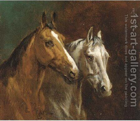 Stable mates by Alfred Wheeler - Reproduction Oil Painting