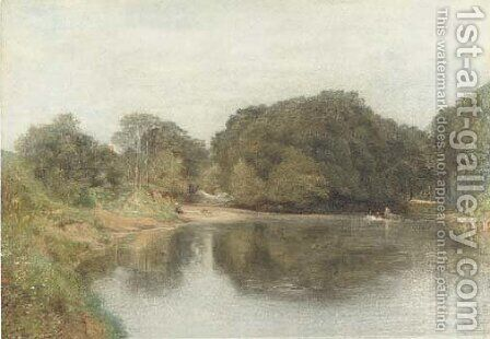 A mill on the Coquet, Northumberland by (after) Le Moyne, Jacques (de Morgues) - Reproduction Oil Painting