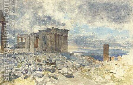 The Parthenon, Athens by (after) Le Moyne, Jacques (de Morgues) - Reproduction Oil Painting