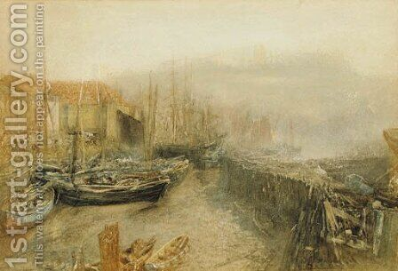 Whitby Harbour by (after) Le Moyne, Jacques (de Morgues) - Reproduction Oil Painting