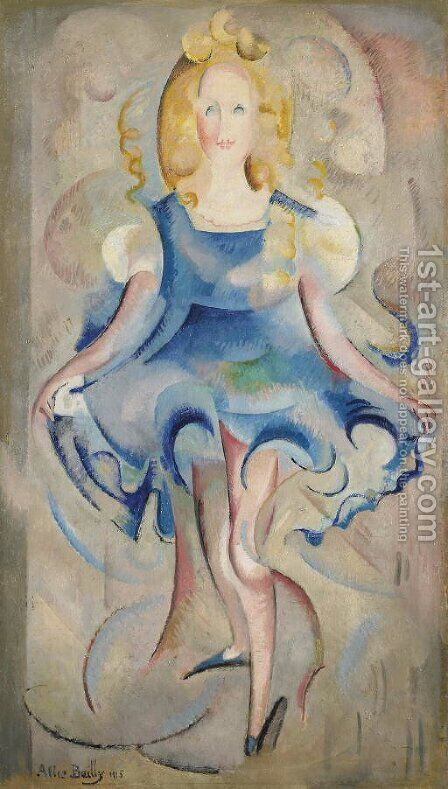 Petite fille qui danse, 1915 by David Bailly - Reproduction Oil Painting