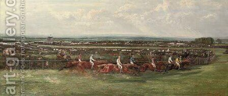 Tattenham Corner, The Derby, 1880 by Allen Culpepper Sealey - Reproduction Oil Painting