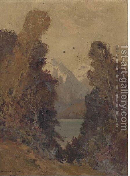 Landscape study by A. Dupont - Reproduction Oil Painting