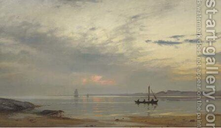 Evening harmony in Norway by Amaldus Clarin Nielsen - Reproduction Oil Painting