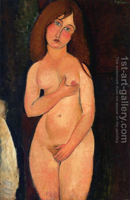 Venus (Nu debout, nu medicis) by Amedeo Modigliani - Reproduction Oil Painting