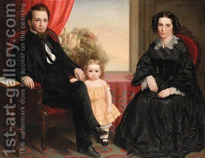 Family Portrait by American School - Reproduction Oil Painting