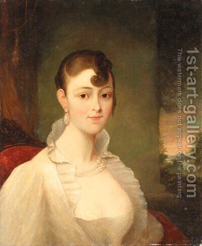 Mrs. John Nicholson by American School - Reproduction Oil Painting