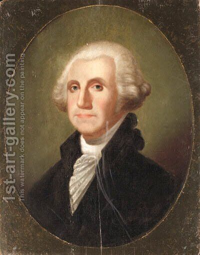 Portrait of George Washington by American School - Reproduction Oil Painting