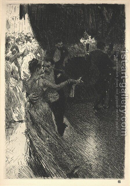 The Waltz by Anders Zorn - Reproduction Oil Painting
