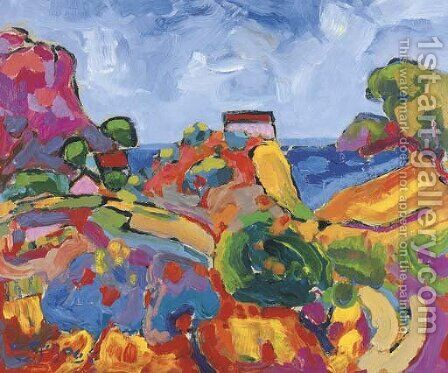 Paysage fauve en Provence by Andre Giroux - Reproduction Oil Painting