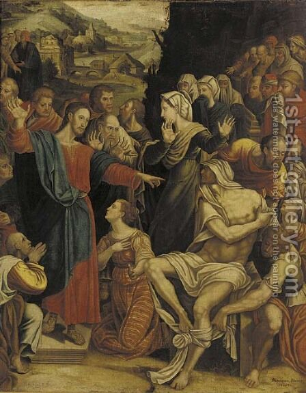 The Raising of Lazarus by Andre Menassier - Reproduction Oil Painting