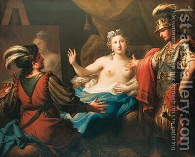 Apelles and Campaspe by Andrea Casali - Reproduction Oil Painting
