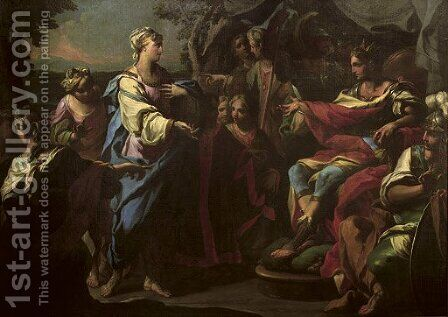 The Family of Darius before Alexander the Great by Andrea Casali - Reproduction Oil Painting