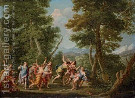 The Stoning of Orpheus by Andrea Locatelli - Reproduction Oil Painting