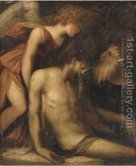 The Lamentation by Andrea Schiavone - Reproduction Oil Painting