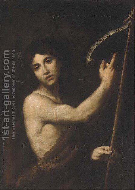 Saint John the Baptist by Andrea Vaccaro - Reproduction Oil Painting
