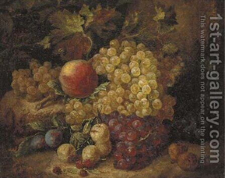 Grapes by Andreas Lach - Reproduction Oil Painting