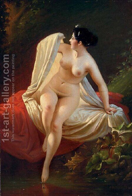 Bather by Andrei Frantsevich Belloli - Reproduction Oil Painting