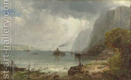 Palisades of the Hudson by Andrew Melrose - Reproduction Oil Painting