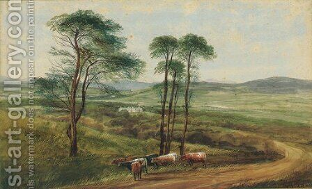 Near Letterkenny, Co. Donegal by Andrew Nicholl - Reproduction Oil Painting