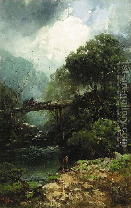 Traveling through Mount Mansfield by Andrew Melrose - Reproduction Oil Painting