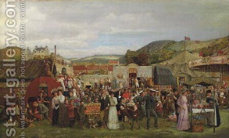 A Scottish Fair by Andrew Young - Reproduction Oil Painting