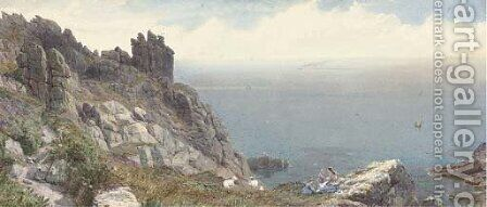 Sketch on the Cornish coast by Anthony Carey Stannus - Reproduction Oil Painting