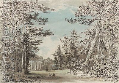 The Doric temple at Studley Royal, Yorkshire by Anthony Devis - Reproduction Oil Painting