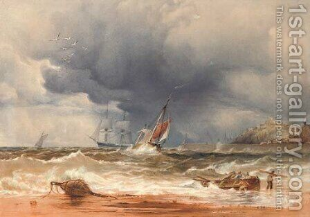 A sea piece by Anthony Vandyke Copley Fielding - Reproduction Oil Painting