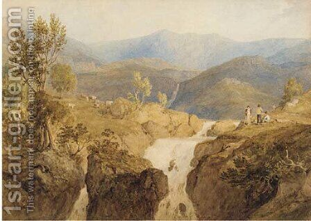 Coniston Beck, Lake District by Anthony Vandyke Copley Fielding - Reproduction Oil Painting